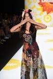 NEW YORK, NY - SEPTEMBER 04: Adriana Lima model walks the runway at Desigual Royalty Free Stock Image