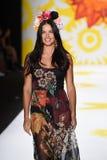 NEW YORK, NY - SEPTEMBER 04: Adriana Lima model walks the runway at Desigual Royalty Free Stock Photography