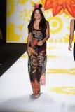 NEW YORK, NY - SEPTEMBER 04: Adriana Lima model walks the runway at Desigual Stock Image