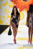 NEW YORK, NY - SEPTEMBER 04: Adriana Lima walks the runway at Desigual Royalty Free Stock Photography