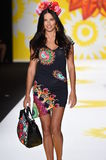 NEW YORK, NY - SEPTEMBER 04: Adriana Lima walks the runway at Desigual Royalty Free Stock Photography
