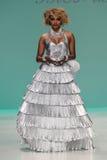 NEW YORK, NY - SEPTEMBER 10: Cynthia Bailey walks the runway at the Betsey Johnson fashion show Stock Photos