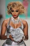 NEW YORK, NY - SEPTEMBER 10: Cynthia Bailey walks the runway at the Betsey Johnson fashion show Stock Image