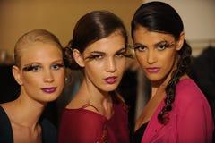 NEW YORK, NY - 04 SEPTEMBER: De modellen wonen de Pamela Gonzales-presentatie bij Stock Afbeeldingen