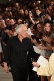 NEW YORK, NY - 11 SEPTEMBER: De ontwerper Ralph Lauren loopt het baanfinale bij Ralph Lauren-modeshow Stock Afbeeldingen
