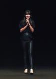 NEW YORK, NY - SEPTEMBER 04: Designer Alessandra Meskita walks the runway at the Meskita fashion show Stock Photos