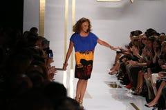 NEW YORK, NY - SEPTEMBER 08: Designer Diane Von Furstenberg walks the runway Royalty Free Stock Photography
