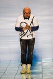 NEW YORK, NY - SEPTEMBER 06: Designer Lie Sang Bong walks the runway at the LIE SANGBONG SS 2015 Collection Stock Photo