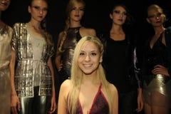 NEW YORK, NY - SEPTEMBER 04: Designer Pamela Gonzales and models attend the Pamela Gonzales presentation Stock Photo