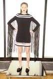 NEW YORK, NY - 03 SEPTEMBER: Een model stelt in Alina German Presentation Royalty-vrije Stock Foto's