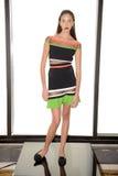 NEW YORK, NY - 03 SEPTEMBER: Een model stelt in Alina German Presentation Royalty-vrije Stock Foto