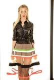 NEW YORK, NY - 03 SEPTEMBER: Een model stelt in Alina German Presentation Stock Foto