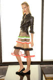 NEW YORK, NY - 03 SEPTEMBER: Een model stelt in Alina German Presentation Stock Fotografie