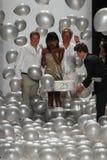 NEW YORK, NY - 09 SEPTEMBER: James Mischka (l) en Mark Badgley lopen de baan met Naomi Campbell Royalty-vrije Stock Foto