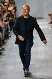 NEW YORK, NY - SEPTEMBER 10: Michael Kors greets the audience after presenting his Michael Kors Spring 2015 Collection Stock Photo