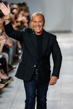 NEW YORK, NY - SEPTEMBER 10: Michael Kors greets the audience after presenting his Michael Kors Spring 2015 Collection Stock Photography