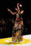 NEW YORK, NY - SEPTEMBER 04: Model Adriana Lima walks the runway at Desigual Spring 2015 fashion show Stock Images