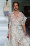NEW YORK, NY - SEPTEMBER 05: Model Alma Durand walks the runway at the Zimmermann fashion show Royalty Free Stock Photos