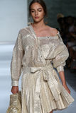 NEW YORK, NY - SEPTEMBER 05: Model Alma Durand walks the runway at the Zimmermann fashion show Stock Photo