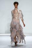 NEW YORK, NY - SEPTEMBER 05: Model Aloysha Kovalyova walks the runway at the Zimmermann fashion show Stock Image