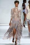 NEW YORK, NY - SEPTEMBER 05: Model Aloysha Kovalyova walks the runway at the Zimmermann fashion show Stock Photos