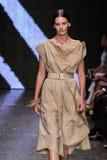 NEW YORK, NY - SEPTEMBER 08: Model Amanda Murphy walks the runway at Donna Karan Spring 2015 fashion show Royalty Free Stock Images