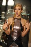 NEW YORK, NY - SEPTEMBER 04: A Model attends the Pamela Gonzales presentation Stock Images