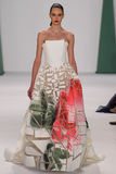 NEW YORK, NY - SEPTEMBER 08: Model Auguste Abeliunaite walks the runway at the Carolina Herrera fashion show Stock Photos