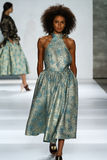 NEW YORK, NY - SEPTEMBER 05: Model Bianca Gittens walks the runway at the Zimmermann fashion show Royalty Free Stock Images