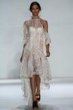 NEW YORK, NY - SEPTEMBER 05: Model Carolina Thaler walks the runway at the Zimmermann fashion show Stock Photography