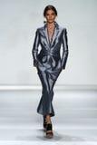 NEW YORK, NY - SEPTEMBER 05: Model Carolina Thaler walks the runway at the Zimmermann fashion show Stock Photo
