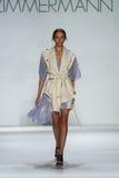 NEW YORK, NY - SEPTEMBER 05: Model Cordelia Kuznetsova walks the runway at the Zimmermann fashion show Stock Photo