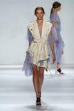 NEW YORK, NY - SEPTEMBER 05: Model Cordelia Kuznetsova walks the runway at the Zimmermann fashion show Royalty Free Stock Image