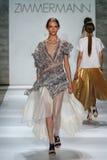 NEW YORK, NY - SEPTEMBER 05: Model Daga Ziobe walks the runway at the Zimmermann fashion show Royalty Free Stock Images