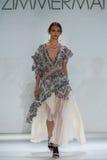 NEW YORK, NY - SEPTEMBER 05: Model Daga Ziobe walks the runway at the Zimmermann fashion show Stock Photography