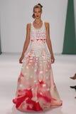 NEW YORK, NY - SEPTEMBER 08: Model Elena Bartels walks the runway at the Carolina Herrera fashion show Royalty Free Stock Photos