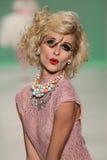 NEW YORK, NY - SEPTEMBER 10: Model Elena Foley attends Betsey Johnson Spring 2015 fashion show Stock Image