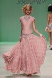 NEW YORK, NY - SEPTEMBER 10: Model Elena Foley attends Betsey Johnson Spring 2015 fashion show Stock Photo