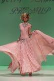 NEW YORK, NY - SEPTEMBER 10: Model Elena Foley attends Betsey Johnson Spring 2015 fashion show Royalty Free Stock Image