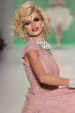 NEW YORK, NY - SEPTEMBER 10: Model Elena Foley attends Betsey Johnson Spring 2015 fashion show Royalty Free Stock Photos