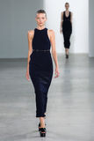 NEW YORK, NY - SEPTEMBER 11: Model Elena Peter walks the runway at the Calvin Klein Collection fashion show Stock Photo