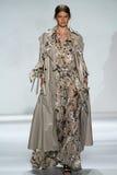 NEW YORK, NY - SEPTEMBER 05: Model Evelina Milward walks the runway at the Zimmermann fashion show Stock Image