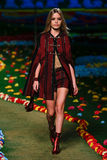 NEW YORK, NY - SEPTEMBER 08: Model Georgia May Jagger walks the runway at Tommy Hilfiger Women's fashion show Stock Images