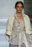 NEW YORK, NY - SEPTEMBER 05: Model Iekeliene Stange walks the runway at the Zimmermann fashion show Stock Photo