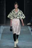 NEW YORK, NY - SEPTEMBER 09: Model Irina Liss walks the runway at the Marc By Marc Jacobs fashion show Stock Image
