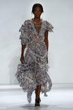 NEW YORK, NY - SEPTEMBER 05: Model Janica Compte walks the runway at the Zimmermann fashion show Stock Image