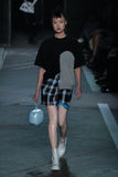 NEW YORK, NY - SEPTEMBER 09: Model Jing Wen walks the runway at the Marc By Marc Jacobs fashion show Stock Image