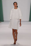 NEW YORK, NY - SEPTEMBER 08: Model Josephine Le Tutour walks the runway at the Carolina Herrera fashion show Stock Image