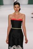 NEW YORK, NY - SEPTEMBER 08: Model Larissa Hofmann walks the runway at the Carolina Herrera fashion show. During MBFW Spring 2015 at The Theatre at Lincoln Stock Photos