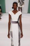 NEW YORK, NY - SEPTEMBER 08: Model Maria Borges walks the runway at the Carolina Herrera fashion show Stock Images